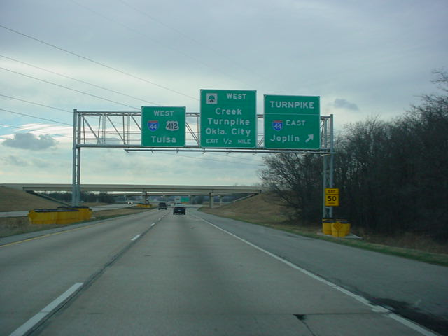 U.S. 412 West at Interstate 44 East