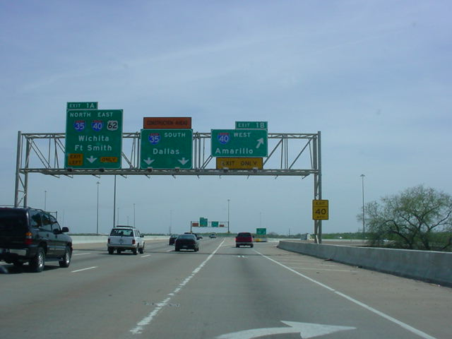 Interstate 235 South at Exit 1B - Interstate 40 West