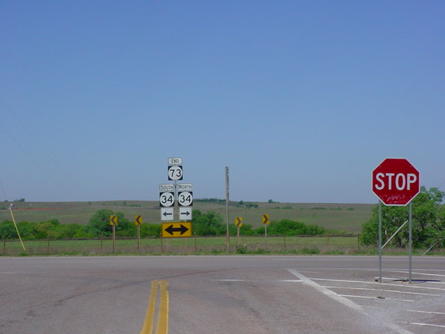 OK 73 West at OK 34