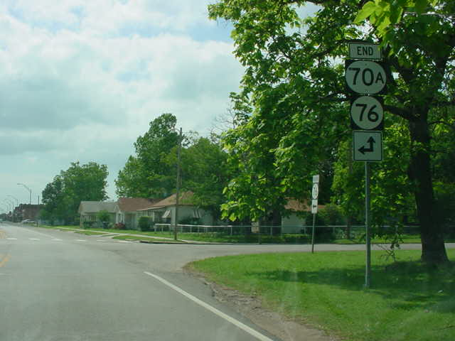 OK 70A South at OK 76