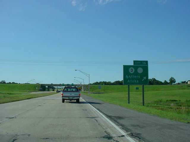 Indian Nation Turnpike North at Exit 16 - OK 3