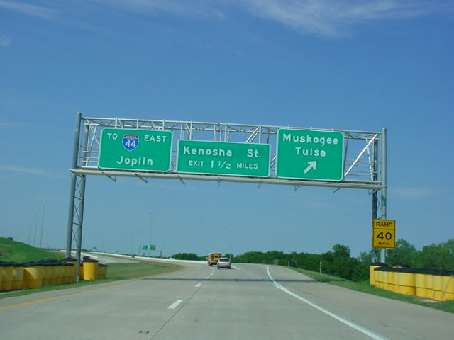 Creek Turnpike East at Muskogee/Tulsa exit