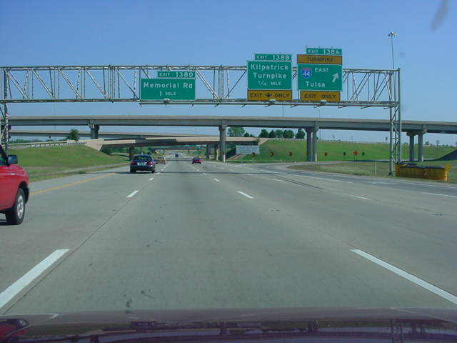 Interstate 35 North/Interstate 44 East at Exit 138A - Interstate 44 East