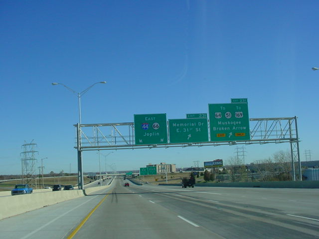 Interstate 44 East at Exit 231 - U.S. 64/OK 51